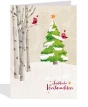 gedruckte Weihnachtskarte kaufen