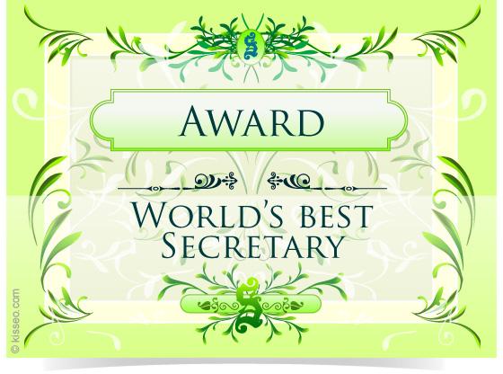 Award for World's Best Secretary