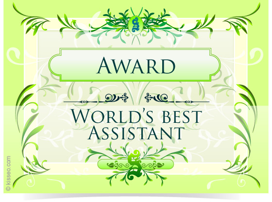 Award for World's Best Assistant