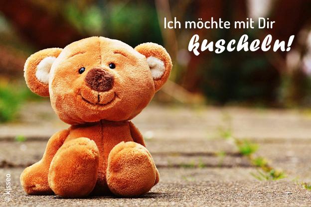 Teddybär: Ich möchte mit Dir kuscheln!