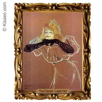 Die Chanteuse Yvette Guilbert - Toulouse Lautrec