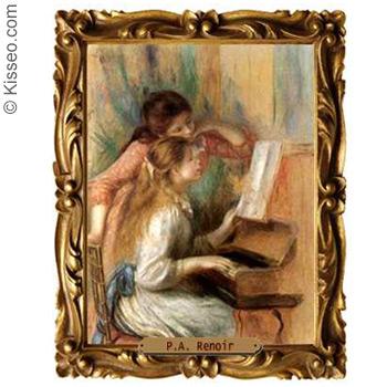 Zwei Mädchen am Klavier - P.A. Renoir