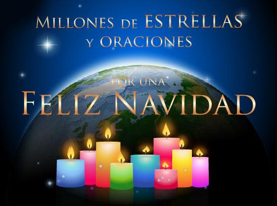 Estrellas y oraciones por una feliz navidad