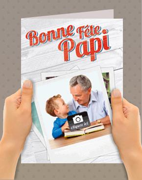 Carte papier fête des papys