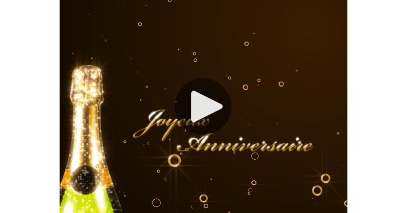 Ma Carte Anniversaire Champagne
