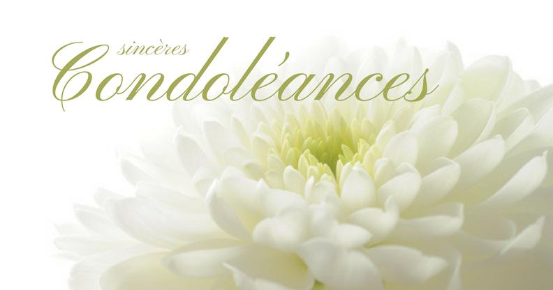 Ma Carte Sinceres Condoleances