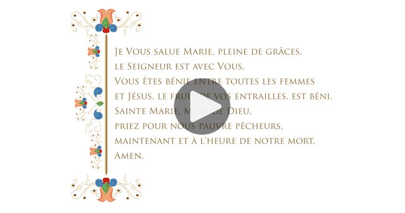 Carte prière à Marie
