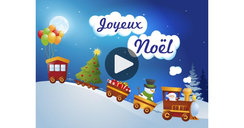 Ma Carte Petit Train De Noël