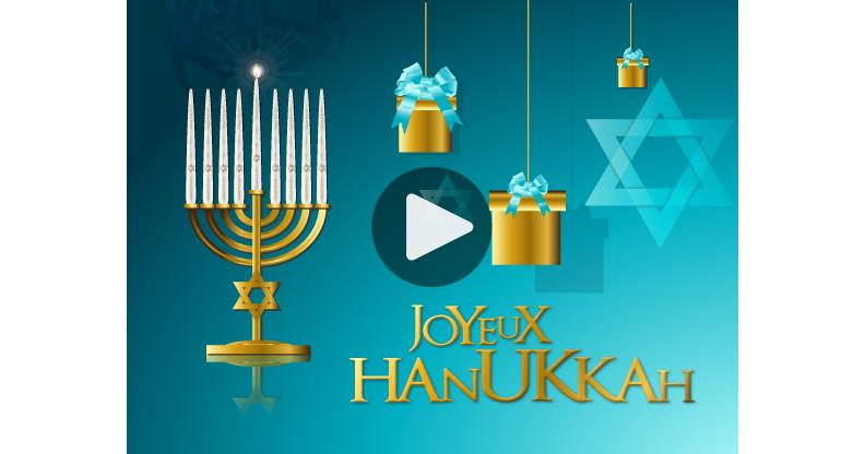 Carte de Joyeux Hanouka