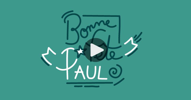 Carte bonne fête Paul