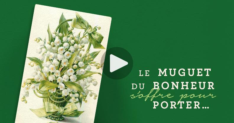 Cartes postales anciennes muguet porte-bonheur
