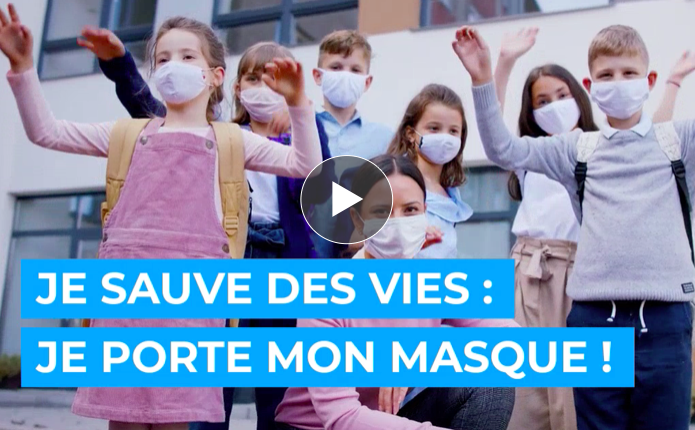 Je sauve des vies, je porte mon masque !