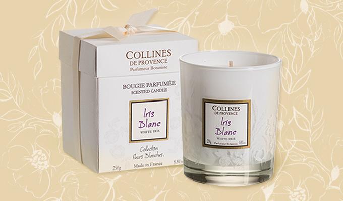Bougie parfumée iris blanc