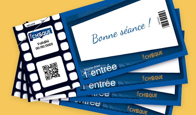 Pochette 4 places de cinéma CinéChèque