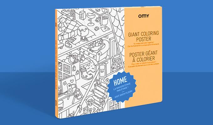 Poster à colorier Home
