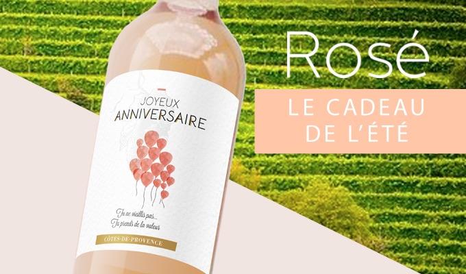 Rosé de Provence, cuvée«joyeuxanniversaire»