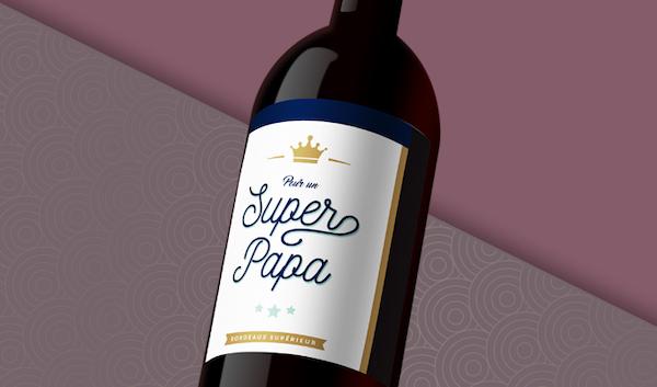 Bordeaux Supérieur2018, cuvée«superpapa»