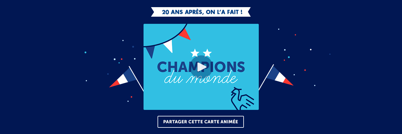 Cartes animées champion du monde 2018