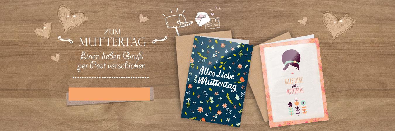 Senden Sie einen lieben Gruß zum Muttertag, mit einer animierten oder gedruckten Karte
