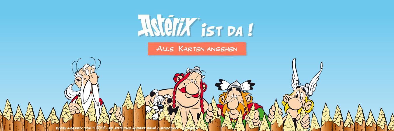 Grußkarten mit Asterix und Obelix