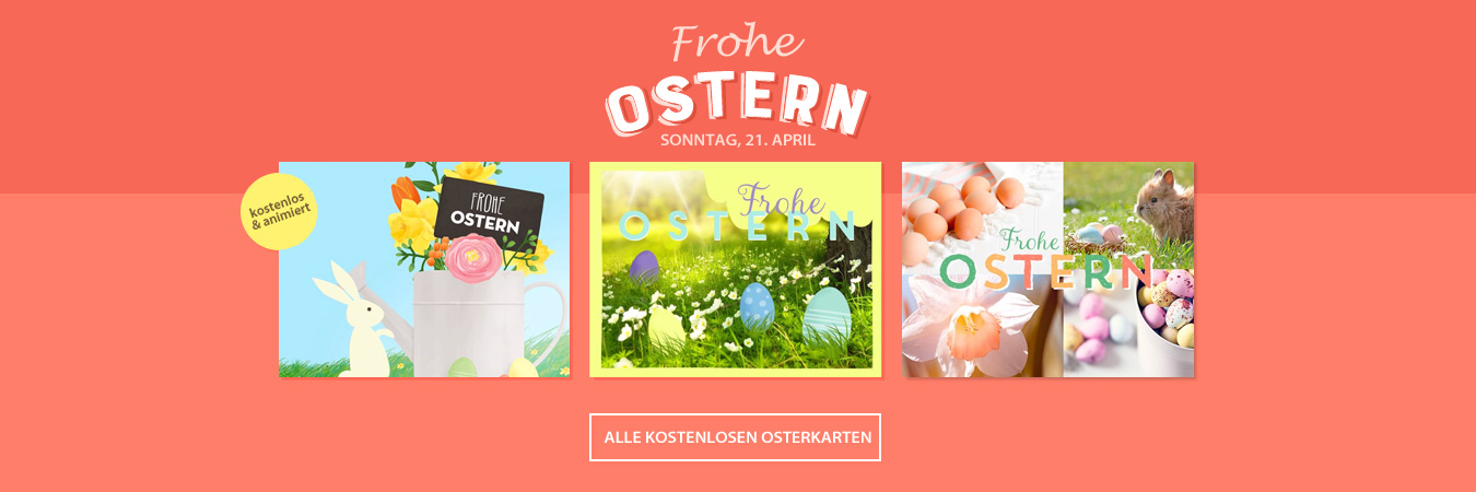 Ostern - kostenlose animierte Grußkarten