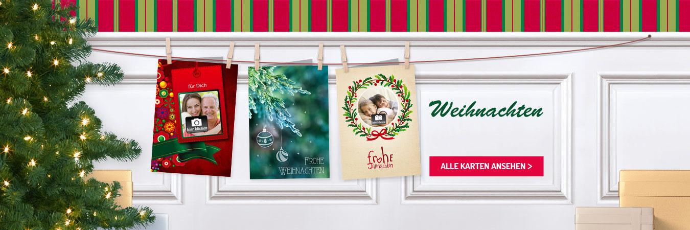 gedruckte Weihnachtskarten online bestellen