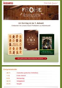 gedruckte Adventskarten
