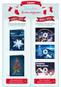 gedruckte oder virtuelle Weihnachtskarten