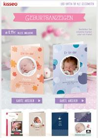 süße Geburtskarten für süße Babys