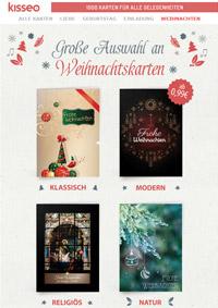 gedruckte Weihnachtskarten