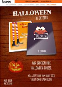 Halloween gedruckte Karten
