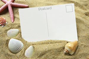 Postkarten schreiben gehört zum Urlaub dazu.