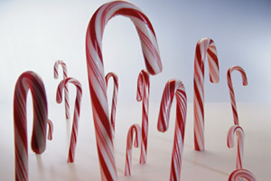 Candy canes for the kids