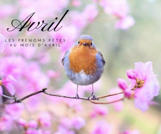 Prénoms fêtés au mois de avril