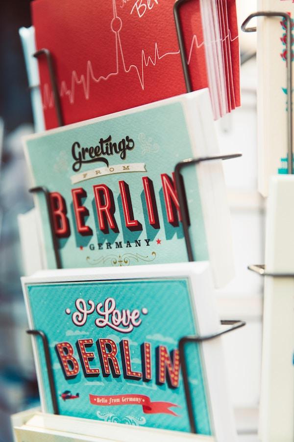 La carte postale envoyées durant les vacances à Berlin
