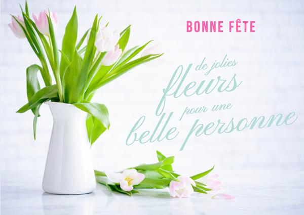 je te souhaite bonne fête avec ces quelques fleurs