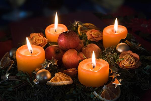 Les bougies de l'Avent