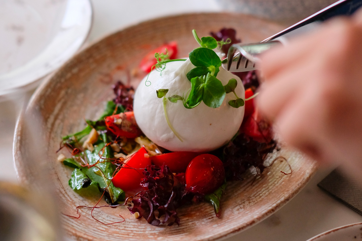 Recette de salade de tomates et burrata
