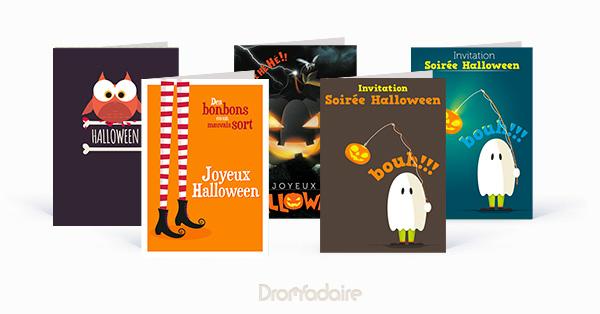 Invitation papier Halloween