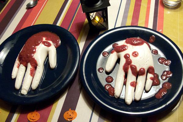 recette de flan en forme de mains