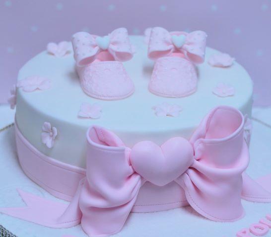 Gâteau de baptême pour une petite fille