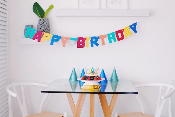 L'anniversaire d'un enfant