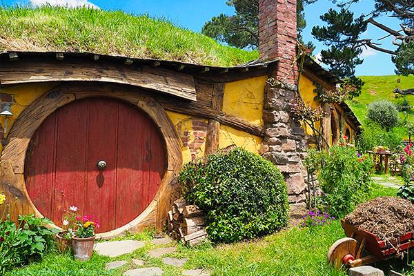 Maison de Hobbit en Nouvelle Zélande