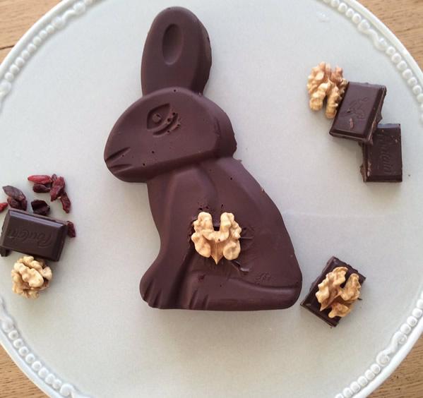 Ingrédients pour préparer votre lapin de Pâques en chocolat