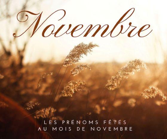 Prénoms fêtés au mois de novembre