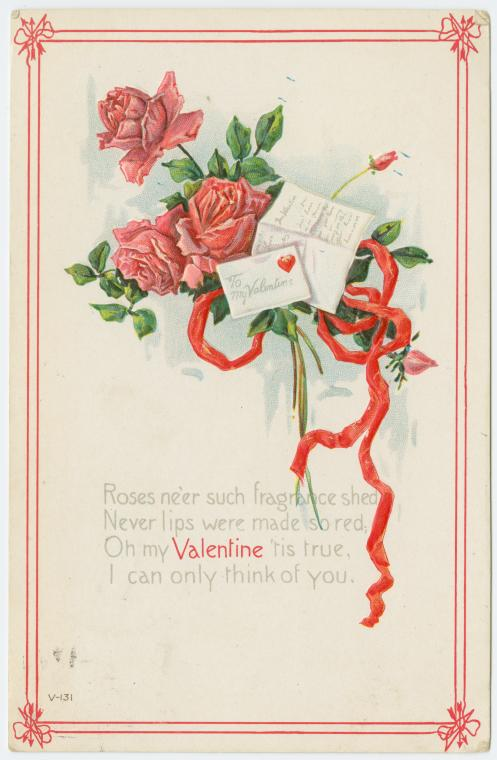 Carte postale ancienne : St Valentin