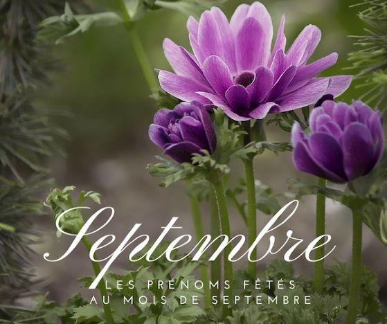 Prénoms fêtés au mois de septembre