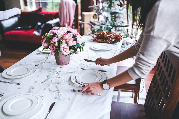 Table de Noël chaleureuse