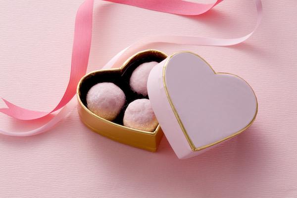 Truffes roses aux biscuits de Reims
