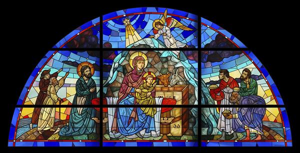 Vitrail de la nativité du Christ